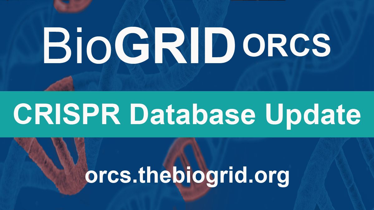 BioGRID ORCS Version 1.1.8 Released